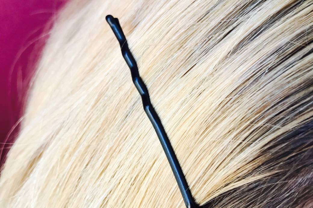 Haarklammer im Haar