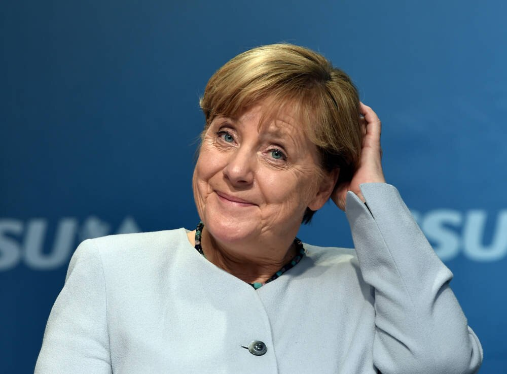 Angela Merkel im Wahlkampf