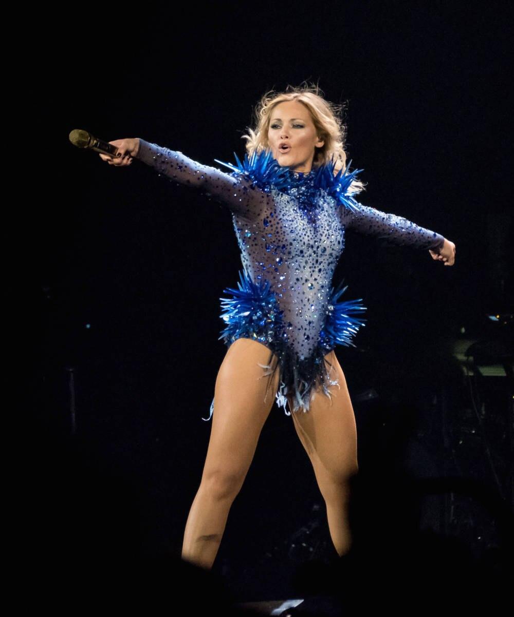 Kleid blau helene fischer