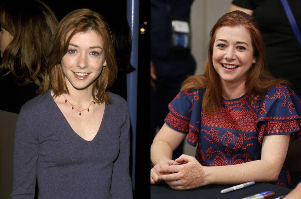 Alyson Hannigan 1999 und 2017
