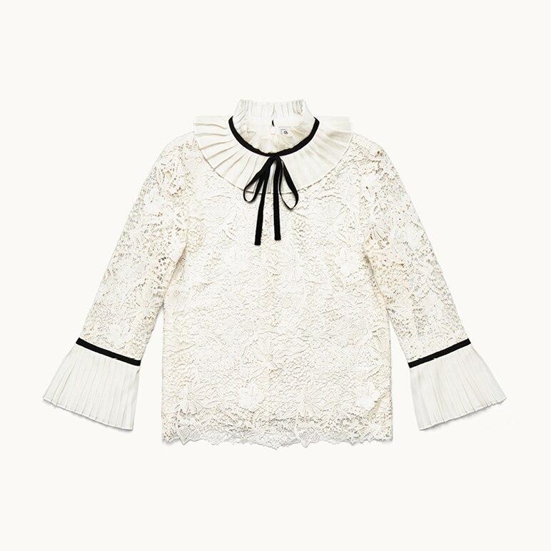 Spitzenbluse in Weiß, Erdem x H&M