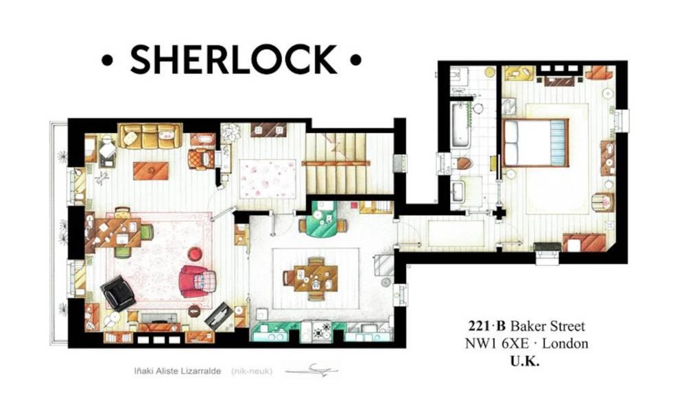 Sherlock Holmes Apartment.
