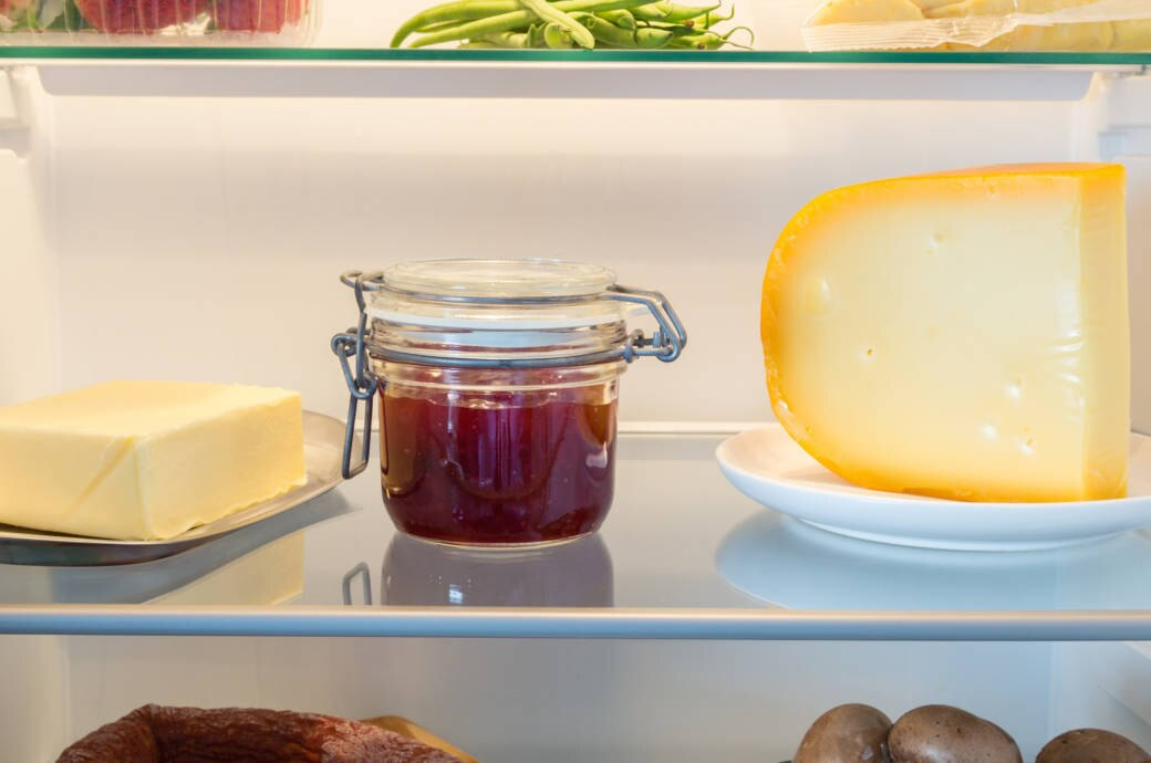 Käse im Kühlschrank