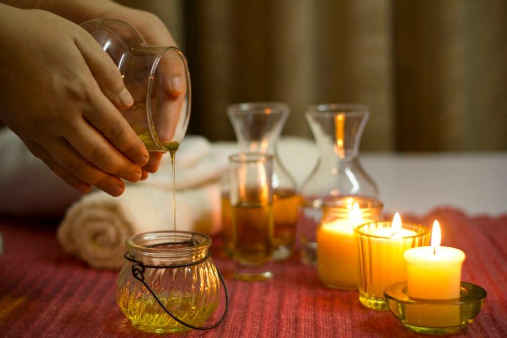 Öl für den Wellness-Bereich