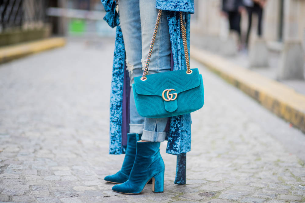 Street Style blaue Ankle Boots
