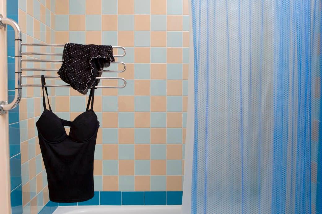 Schwarze Wäsche Badezimmer