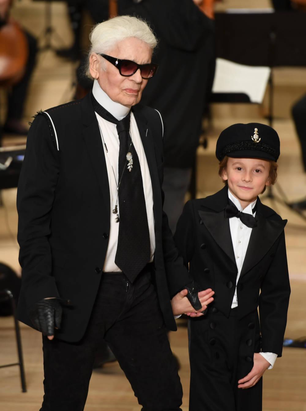 Karl Lagerfeld und Hudson Kroenig