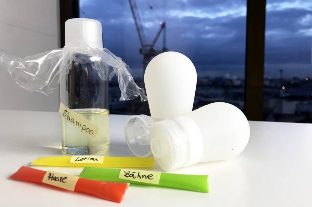 Wiederverwertbare Beauty-Behälter und Einmalportionen an Zahnpasta und Co.