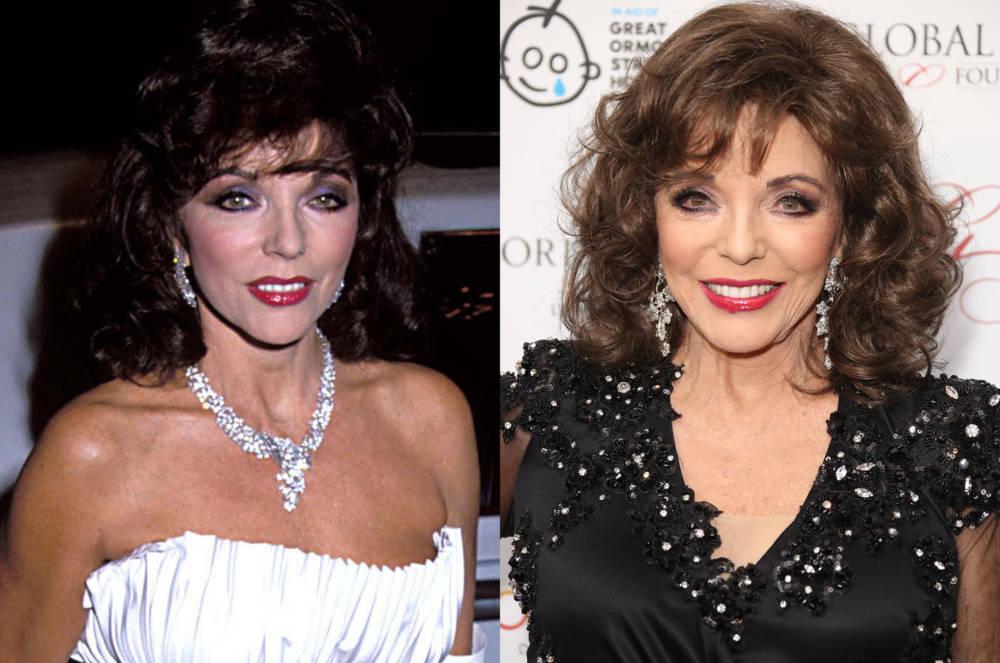 Joan Collins 1984 und 2017