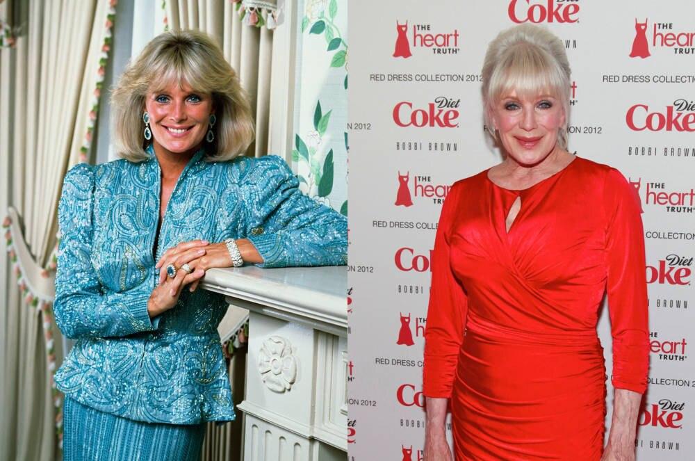 Linda Evans 1983 und 2012