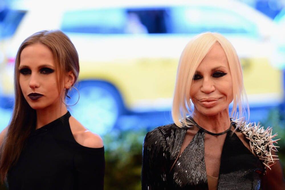 Allegra Beck und Donatella Versace 2013