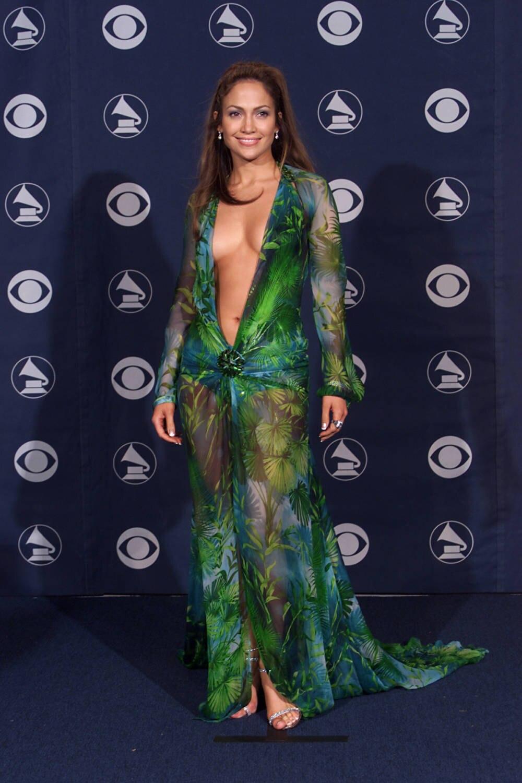 Jennifer Lopez bei den Grammys im Jahr 2000
