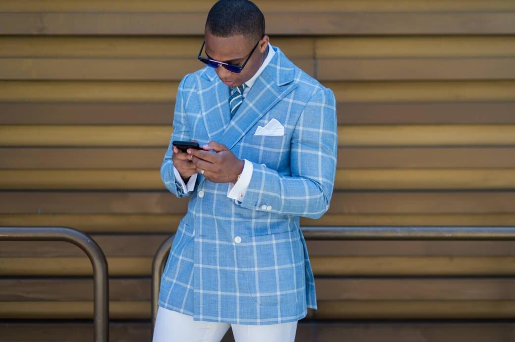 Streetstyle Krawatte und Einstecktuch