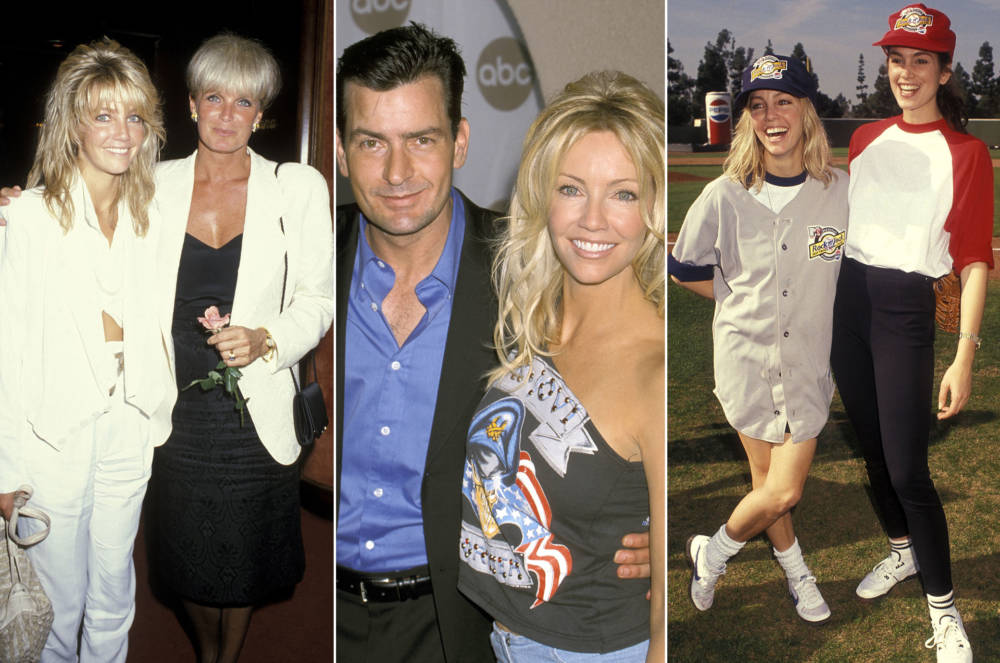 Heather Locklear, Linda Evand, Charlie Sheen und Cindy Crawford
