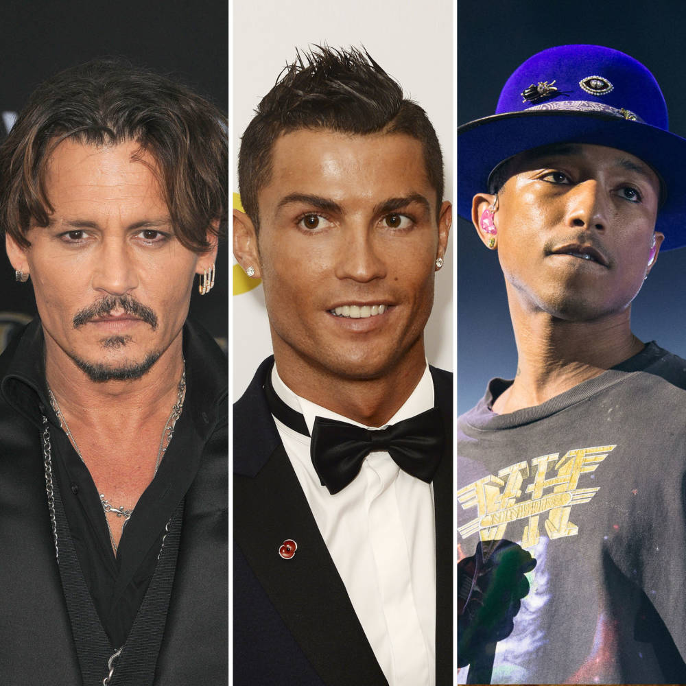 Johnny Depp, Cristiano Ronaldo und Pharrell Williams