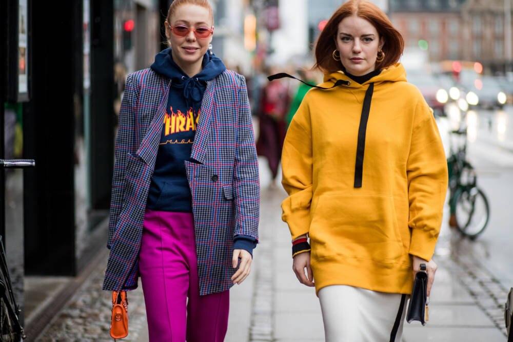 Streetstyle Frauen Kapuzenpulli
