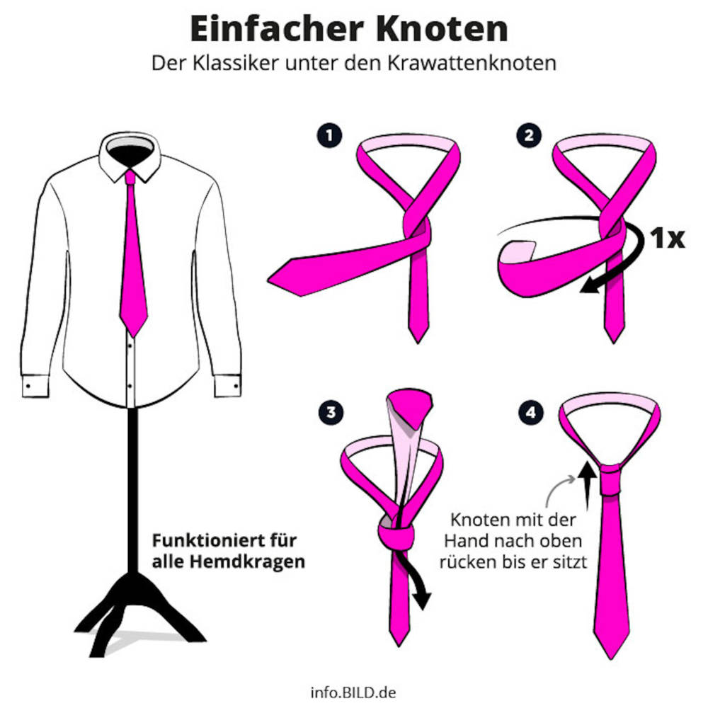 Krawattenknoten Richtig Binden Einfache Anleitung Stylebook