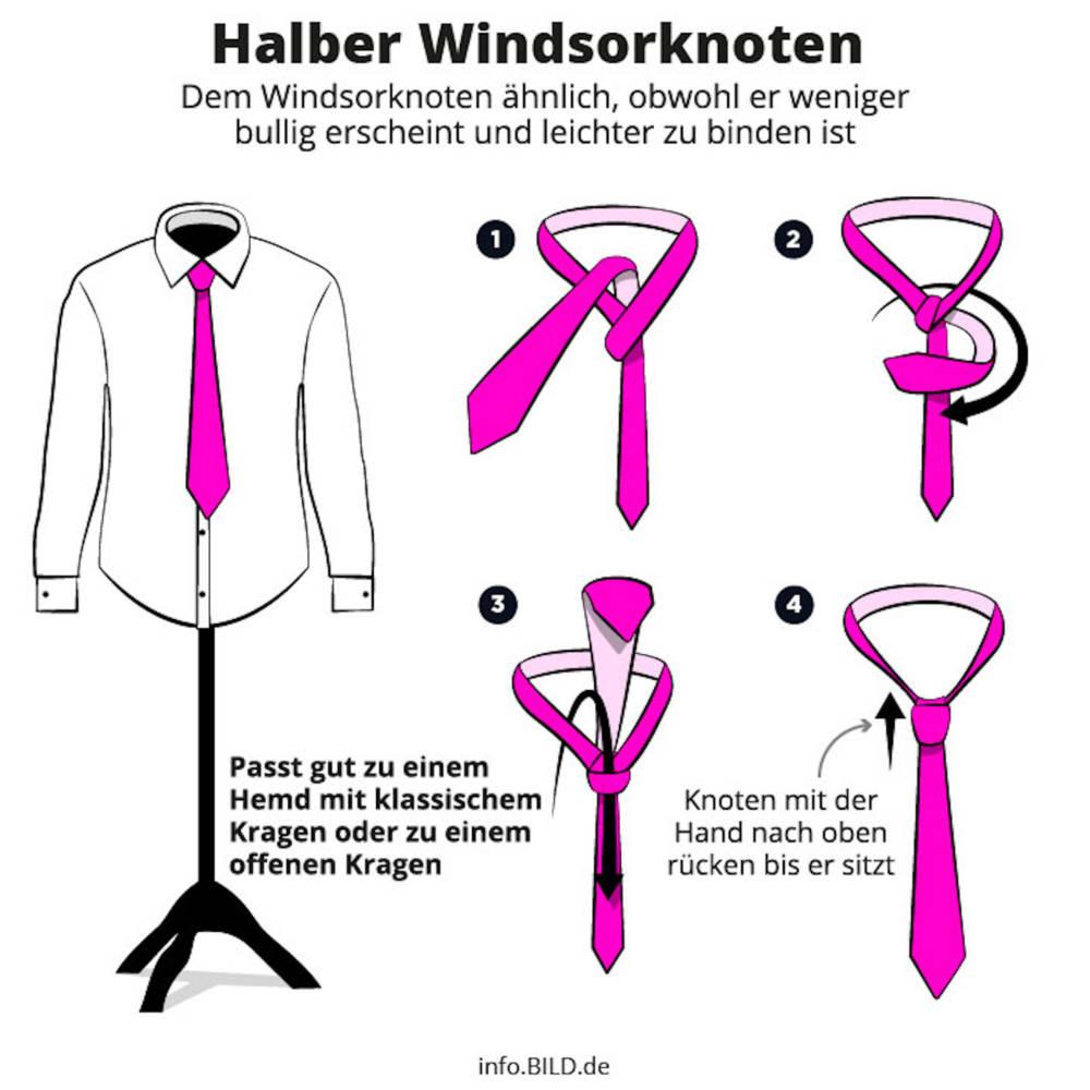 Krawattenknoten Richtig Binden: Einfache Anleitung