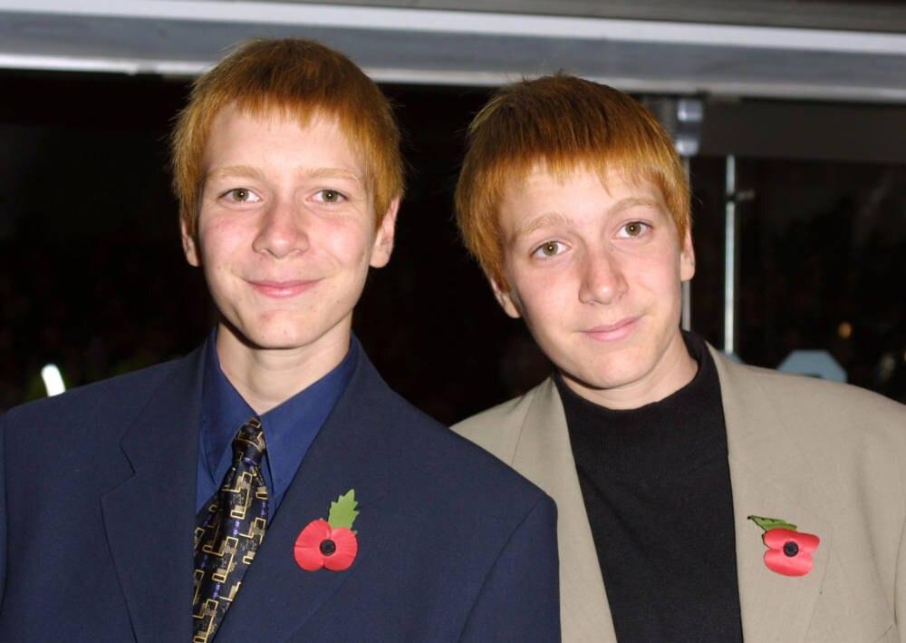 James und Oliver Phelps 2001