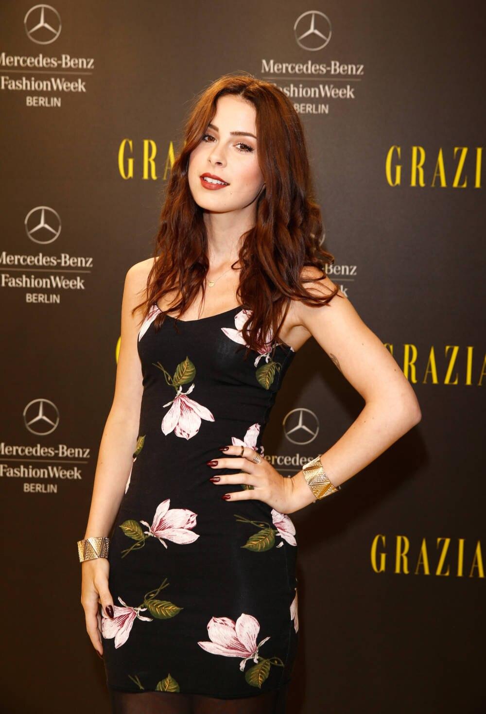 Lena auf der Fashion Week