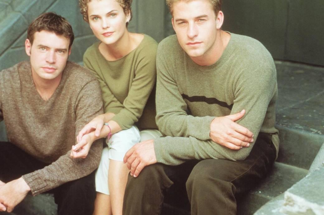 """Scott Foley, Keri Russel und Scott Speedman, Stars der Serie """"Felicity"""""""