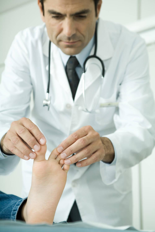 Fußuntersuchung beim Arzt