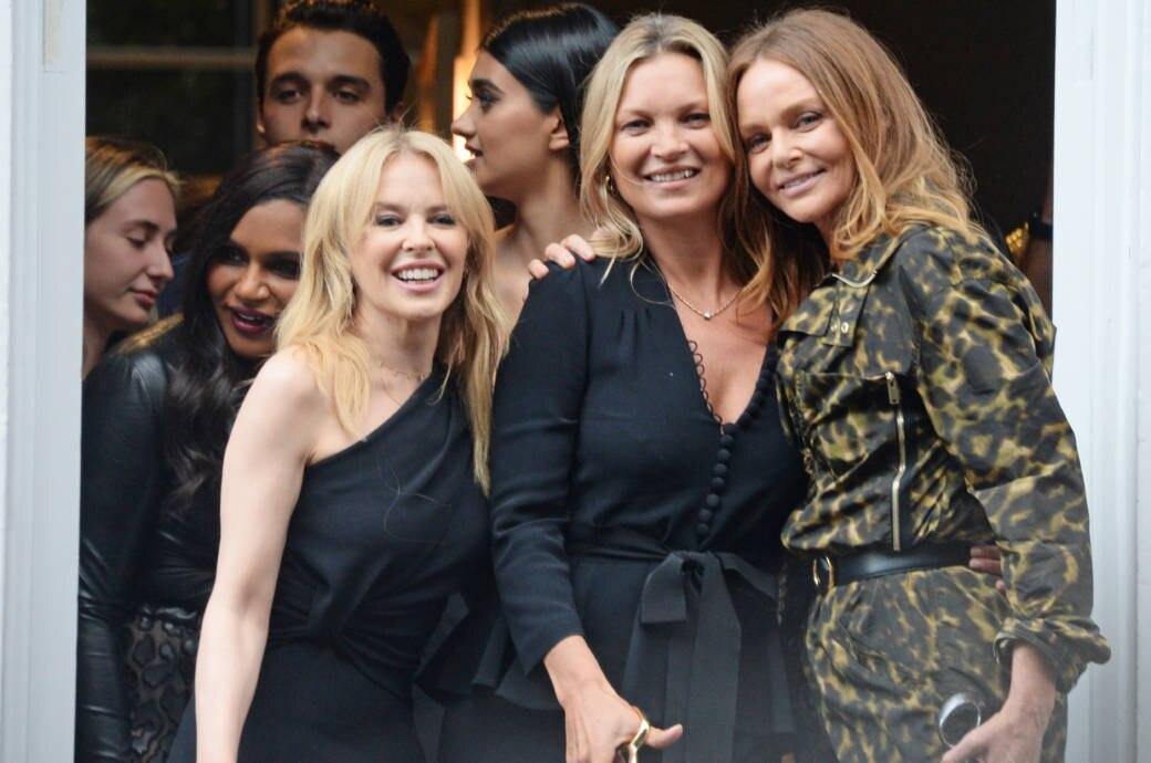 Kylie Minogue, Kate Moss und Stella McCartney
