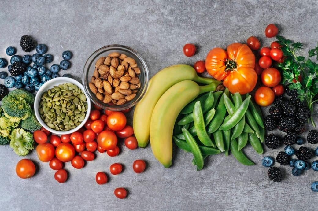 Obst und Gemüse für die Ernährung