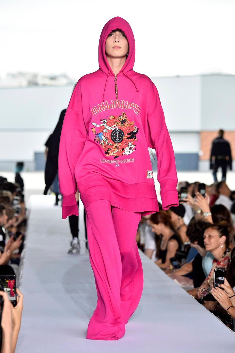 Vetements Pink Suit Haute Couture