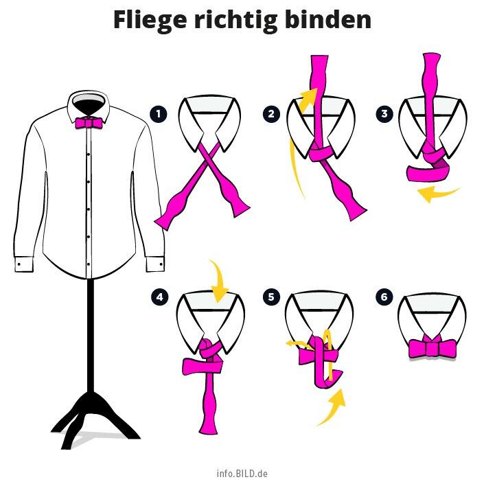 Anleitung Fliege richtig binden