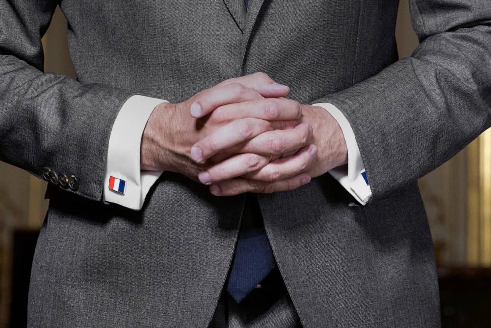 Manschettenknöpfe mit Frankreich-Flagge