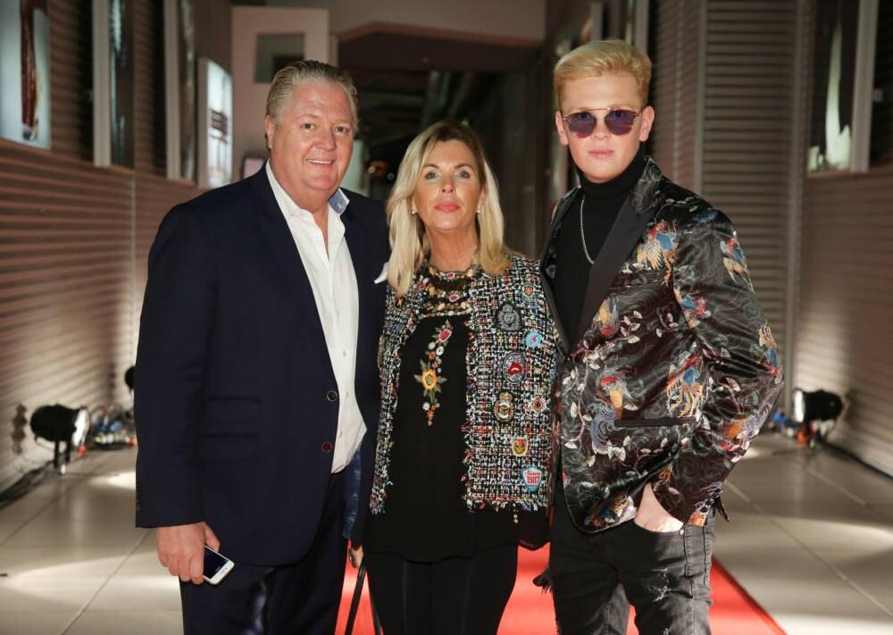 Leon Löwentraut mit Mutter Heike und Vater Jörg