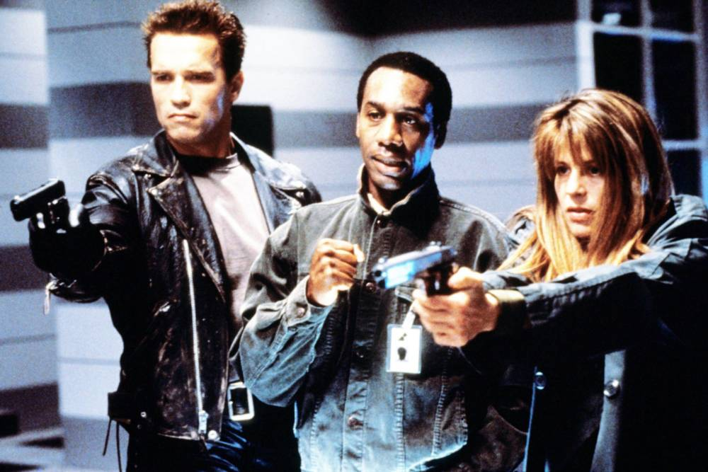 Linda Hamilton und Arnold Schwarzenegger in Terminator