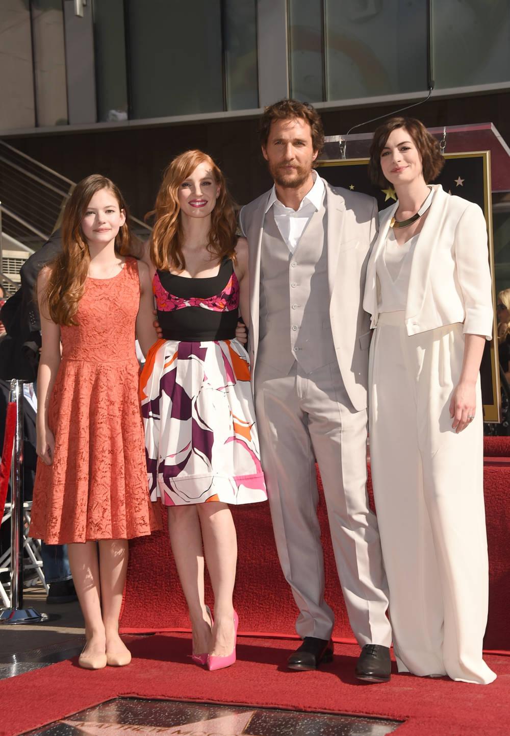 Der Cast von Interstellar auf dem Hollywood Walk of Fame
