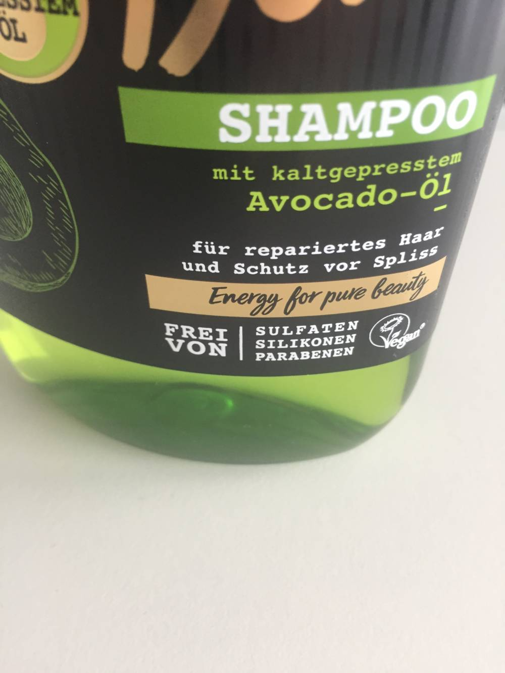 Aufkleber Shampoo