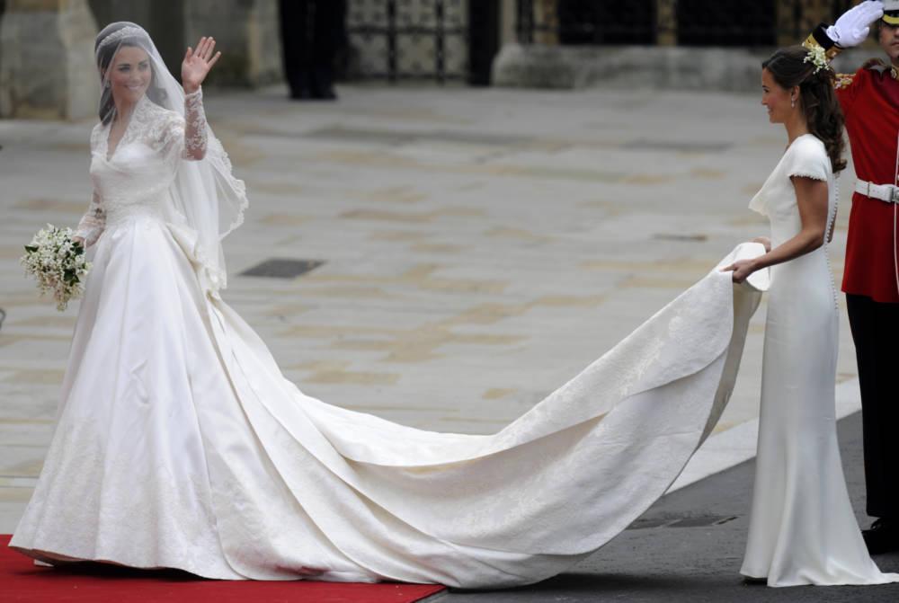 Herzogin Kate an ihrem Hochzeitstag