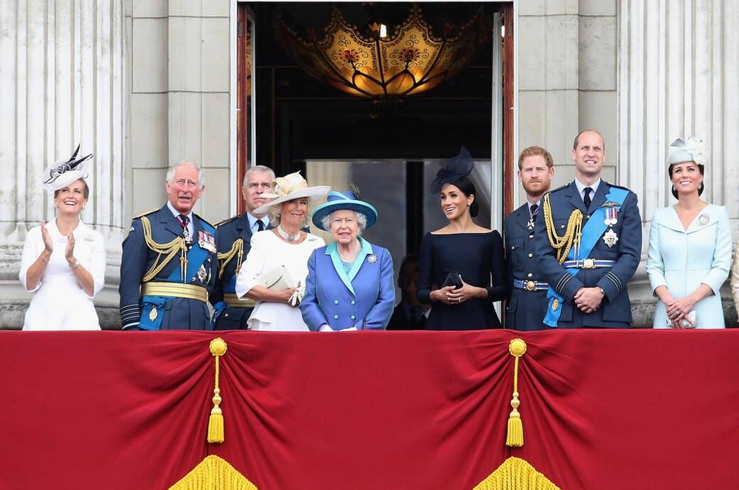 Royals auf dem Buckingham Palace
