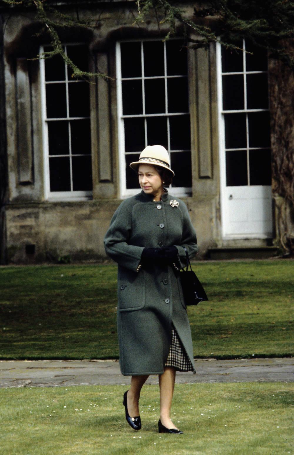 Queen Elizabeth ll in Badminton 1973