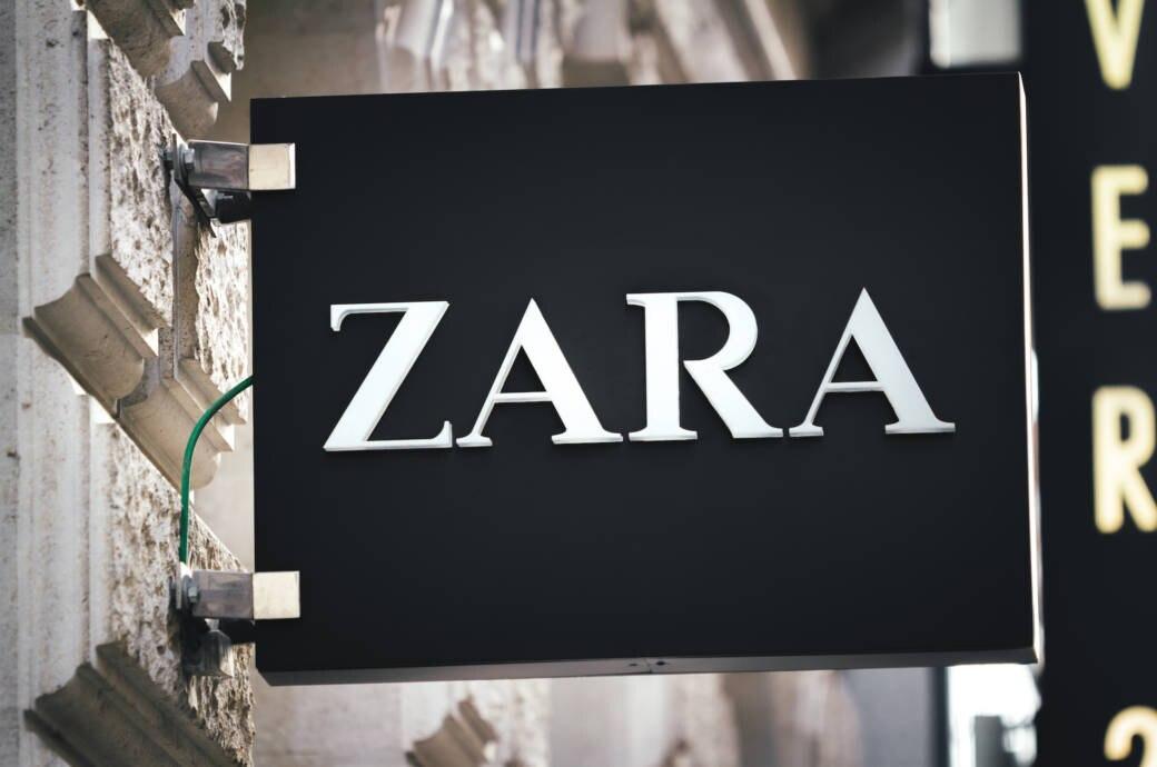 Zara-Schild