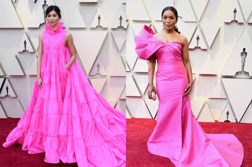 Die Schauspielerinnen Gemma Chan und Angela Bassett setzten auf Pink
