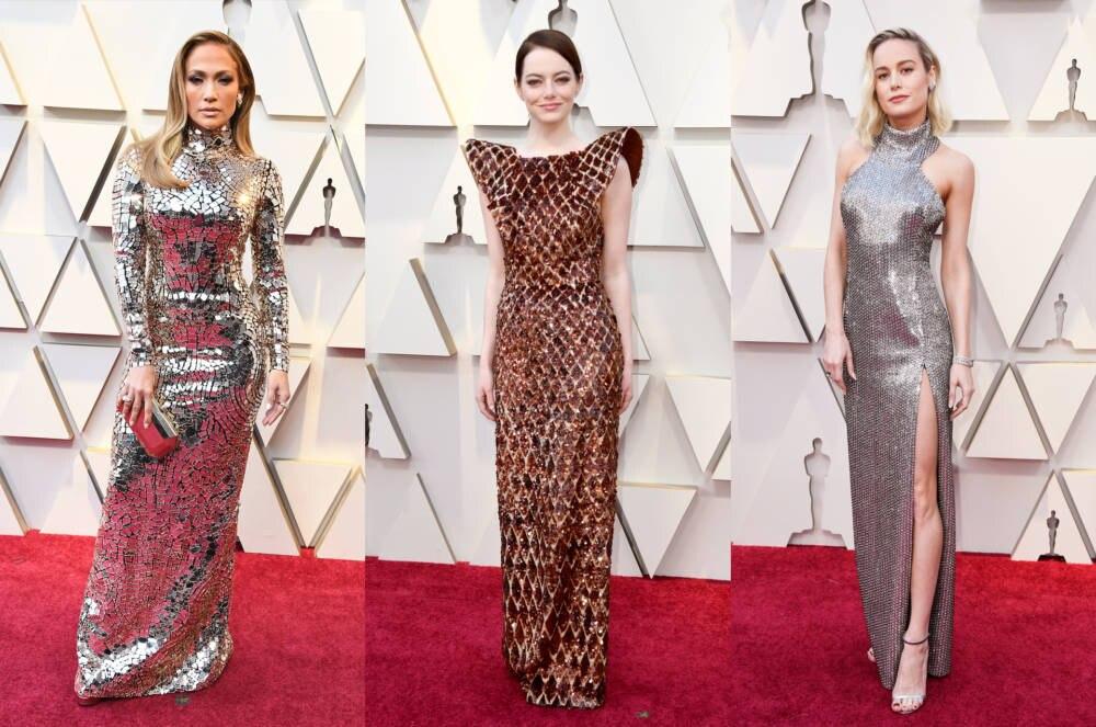 Jennifer Lopez, Emma Stone und Brie Larson zeigten Mut zum Metallic-Look