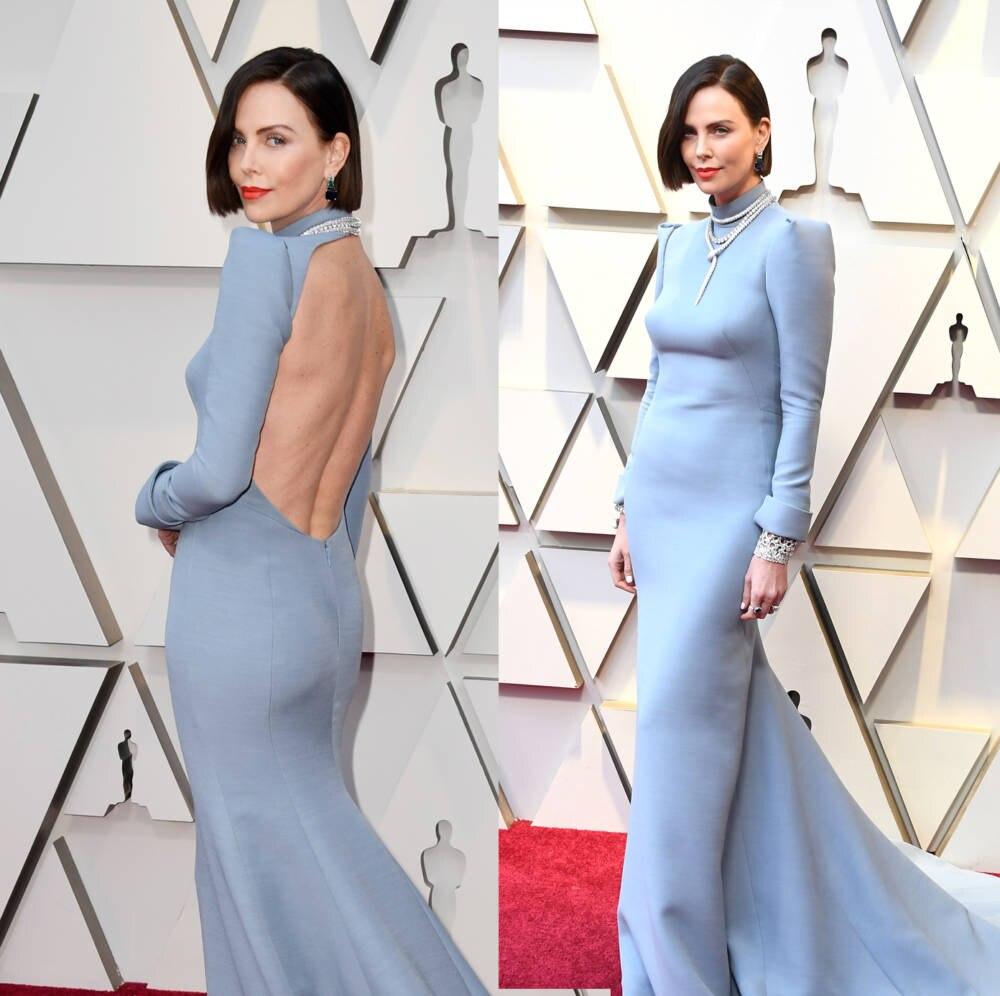 Charlize Theron verzückte von vorn und hinten in ihrem Dior-Dress