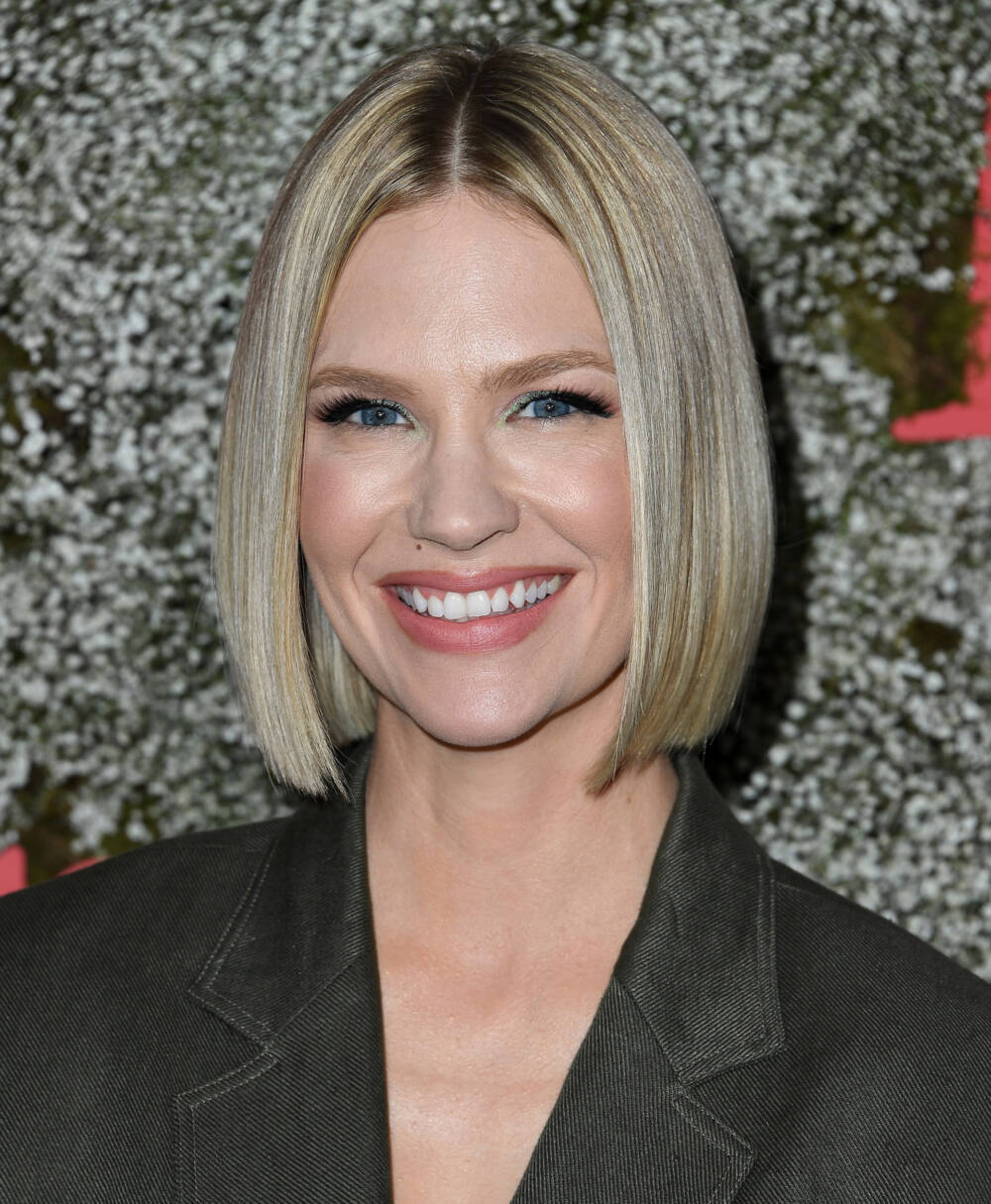 January Jones mit Sleek Bob