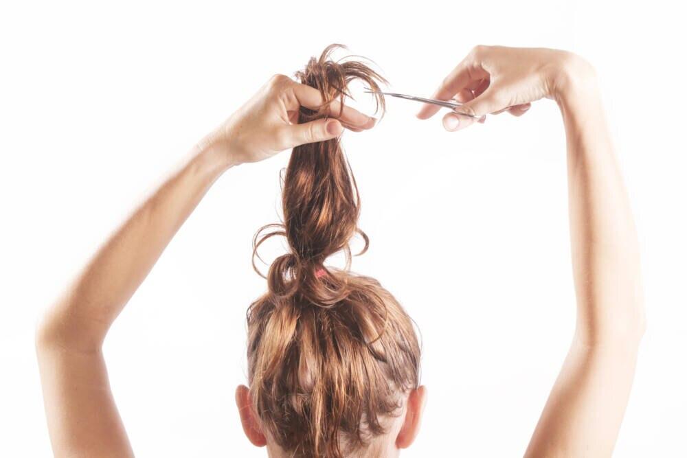 Stufen selber schneiden lange haare