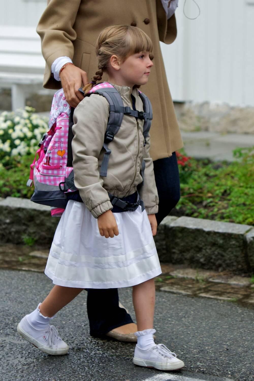 Prinzessin Ingrid Alexandra an ihrem ersten Schultag