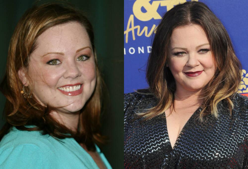 Melissa McCarthy 2003 (links) und 2019 (rechts)