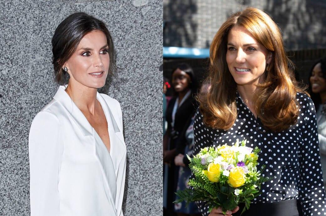 Königin Letitzia (l.) und Herzogin Kate im Stylevergleich