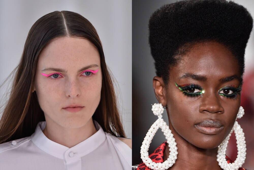 Models mit buntem Eyeliner