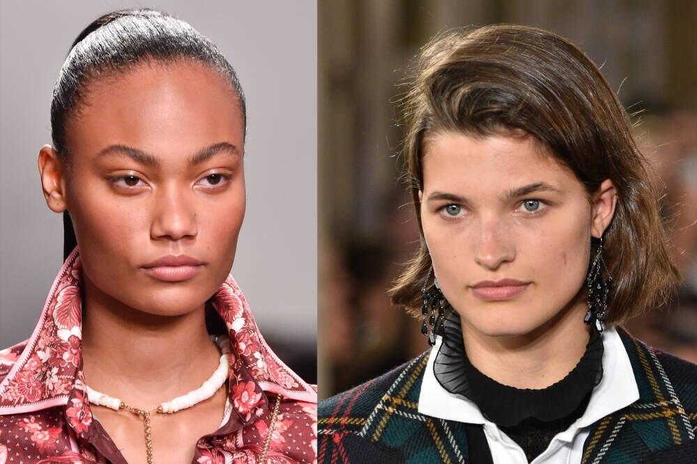 Models mit kaum Make-up