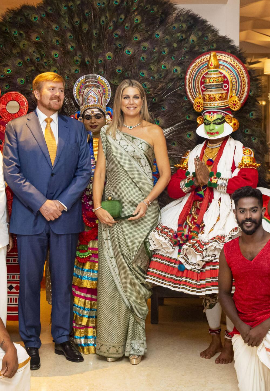 König Willem Alexander und Máxima der Niederlande in Indien